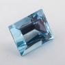 Небесно-голубой топаз отличной российской огранки формы багет, вес 20 карат, размер 16.2х13.2мм (sky0147)