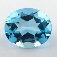 Небесно-голубой топаз формы овал, вес 8.44 карат, размер 14.1х12мм (sky0153)