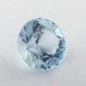 Небесно-голубой топаз российской огранки формы круг, вес 3.05 карат, размер 8.7х8.7мм (sky0156)