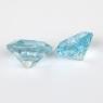 Пара небесно-голубых топазов формы гексагон, средний вес пары 5.5 карат, размер 8.4х8.3мм (sky0159)