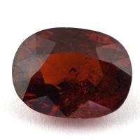Оранжево-красный гранат спессартин формы овал, вес 12.01 карат, размер 14.3х10.8мм (spes0056)