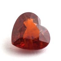 Гранат спессартин формы сердце, вес 2.34 карат, размер 8.7х8мм (spes0066)