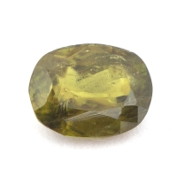 Коричневато-зелёный сфен формы овал, вес 2.18 карат, размер 9.2х7.2мм (sphene0022)