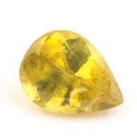 Золотистый сфен груша вес 0.9 карат, размер 6.9х5.3мм (sphene0040)