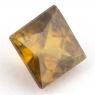 Золотистый сфен квадрат вес 1.06 карат, размер 5.5х5.5мм (sphene0045)