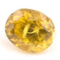 Золотистый сфен овал вес 1.52 карат, размер 7х5.8мм (sphene0052)