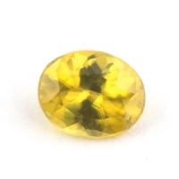 Золотистый сфен овал вес 0.39 карат, размер 4.9х4мм (sphene0059)