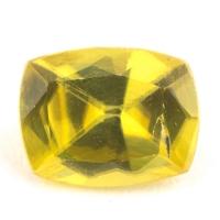 Золотистый сфен антик вес 0.9 карат, размер 6.6х5.1мм (sphene0067)
