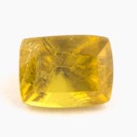 Золотистый сфен антик вес 0.85 карат, размер 5.5х4.3мм (sphene0073)