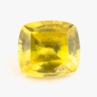 Золотистый сфен антик вес 0.58 карат, размер 5.1х4.6мм (sphene0075)