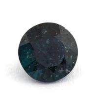 Зеленовато-синяя шпинель круг, вес 0.83 карат, размер 6х6мм (spinel0145)
