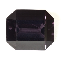 Темная серо-сиреневая шпинель октагон, вес 5.45 карат, размер 11.2х9.6мм (spinel0181)
