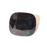 Темная сине-зеленая шпинель антик, вес 1.36 карат, размер 6.7х6мм (spinel0195)