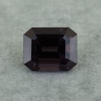 Темная шпинель октагон, вес 1.44 карат, размер 7х5.7мм (spinel0254)