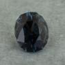 Темно-синяя шпинель отличной российской огранки формы овал, вес 0.76 карат, размер 6х4.9мм (spinel0257)