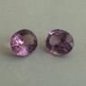 Пара пурпурных шпинелей формы овал, общий вес 1.69 карат, размер 6х5мм (spinel0271)