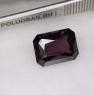 Темно-сиреневая шпинель отличной российской огранки формы октагон, вес 11.45 карат, размер 15.44х11.48мм (spinel0273)