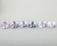 Набор светлых шпинелей формы овал, общий вес 3.99 карат, размер 6х5мм (spinel0281)
