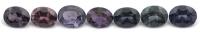 Набор из разноцветных шпинелей формы овал, общий вес 2.46 карат, размер 5х4мм (spinset0010)