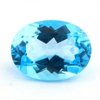 Топаз голубой swiss овал средний вес 11.17 карат, размер 16х12мм (swiss0017)