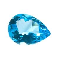 Топаз голубой swiss груша средний вес 17.9 карат, размер 20х15мм (swiss0001)
