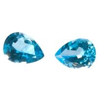 Топаз голубой swiss пара груш вес 21.5 карат, размер 16х12мм (swiss0002)