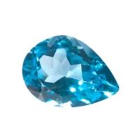 Топаз голубой swiss груша  средний вес 14.2 карат, размер 18х13мм (swiss0003)