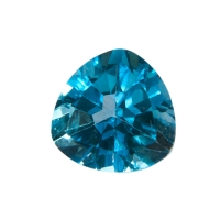 Топаз голубой swiss триллион вес 13.4 карат, размер 14х14мм (swiss0005)