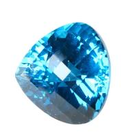 Огромный ярко-синий топаз формы сердце 23.7х23.7мм, вес 66.2ct (swiss0009)