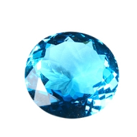 Топаз голубой swiss круг вес 35.4 карат, размер 22х22мм (swiss0014)