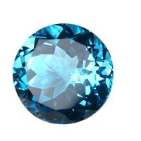 Топаз голубой swiss круг вес 47.3 карат, размер 20.7х20.7мм (swiss0015)