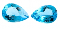 Топаз голубой swiss пара груш вес 48.27 карат, размер 22х16мм (swiss0019)