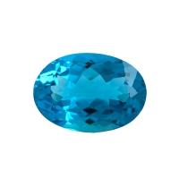 Топаз голубой swiss овал вес 38.59 карат, размер 25.2х18мм (swiss0023)