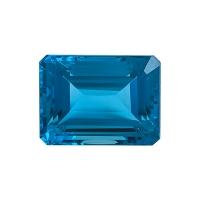 Топаз голубой swiss октагон вес 58.44 карат, размер 23.1х17.4мм (swiss0026)