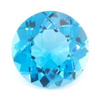 Топаз голубой swiss отличной огранки круг вес 6.64 карат, размер 12х11.9мм (swiss0032)
