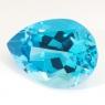 Топаз голубой swiss отличной огранки груша вес 18.63 карат, размер 20.2х14.4мм (swiss0033)