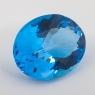 Ярко-голубой топаз овал, вес 48.54 карат, размер 26.34х20.58мм (swiss0037)