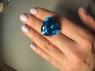 Ярко-синий топаз формы сердце, вес 52.2 карат, размер 22.2х21.7мм (swiss0040)