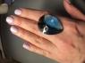 Ярко-синий топаз формы груша, вес 56.15 карат, размер 33.8х25.5мм (swiss0041)