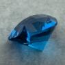 Ярко-голубой топаз отличной российской огранки формы сердце, вес 46.9 карат, размер 23х22.2мм (swiss0045)
