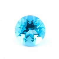 Голубой топаз круг диаметр 10мм