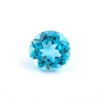 Голубой топаз круг диаметр 7мм