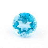 Голубой топаз круг диаметр 8мм