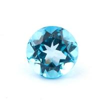 Голубой топаз круг диаметр 9мм
