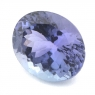 Фиолетово-синий танзанит овал вес 4.24 карат, размер 11.3х9.25мм (tanz0091)