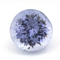 Фиолетово-синий танзанит круг вес 1.8 карат, размер 7.2х7.1мм (tanz0094)