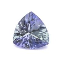 Зеленовато-синий танзанит триллион вес 1.26 карат, размер 7.4х7.4мм (tanz0101)