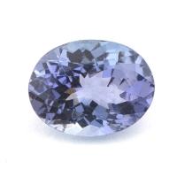 Фиолетово-синий танзанит овал вес 1.7 карат, размер 8.9х6.9мм (tanz0106)
