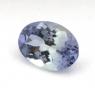 Зеленовато-синий танзанит овал вес 1.24 карат, размер 8.15х6мм (tanz0107)