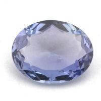 Фиолетово-синий танзанит овал вес 2.08 карат, размер 10.5х8.2мм (tanz0109)